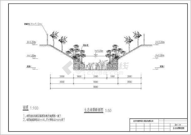 滨水工程湿地环保设计图-图2
