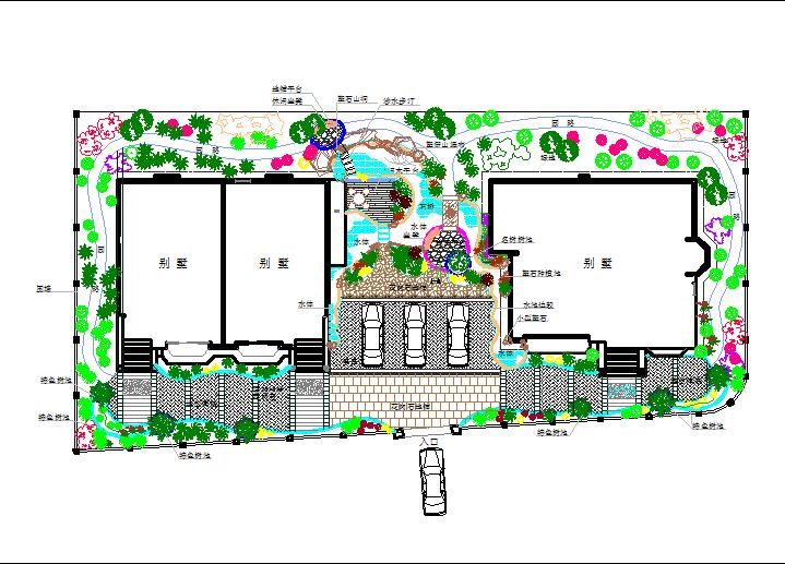 某地海边别墅景观方案设计平面图纸图片1