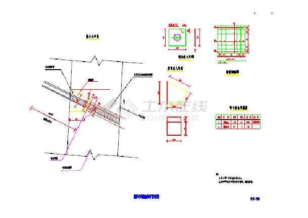 点击查看某锚索挡墙设计施工图纸第1张大图