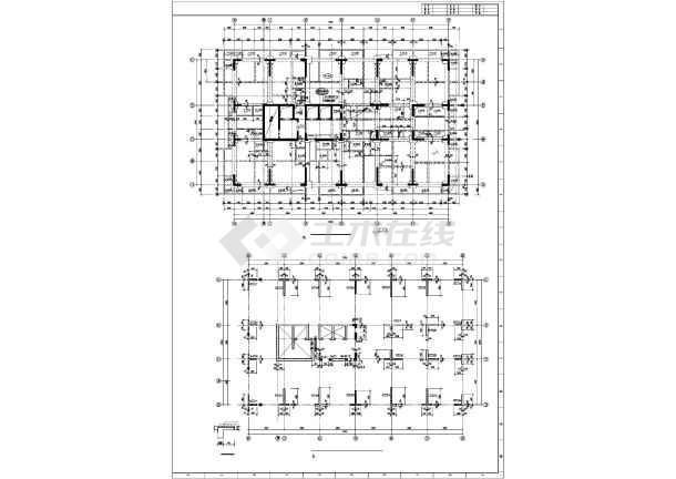 重庆地区某框支剪力墙高层住宅楼结构图纸-图1