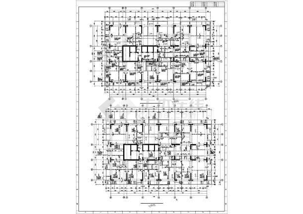 重庆地区某框支剪力墙高层住宅楼结构图纸-图2