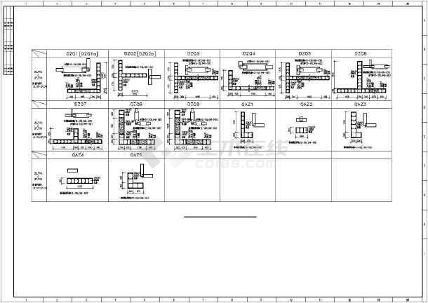 重庆地区某框支剪力墙高层住宅楼结构图纸-图3