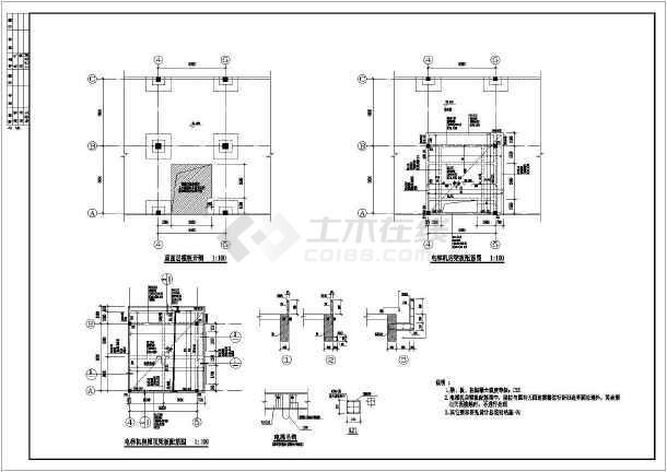某地钢结构电梯、加固改造结构施工图纸-图2