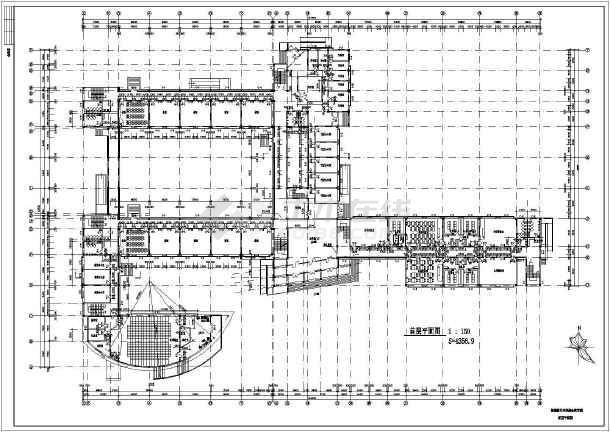 某地区航天中学4层综合教学楼建筑设计施工图图片