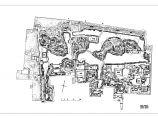 江南园林之苏州拙政园平面布局图CAD图片1
