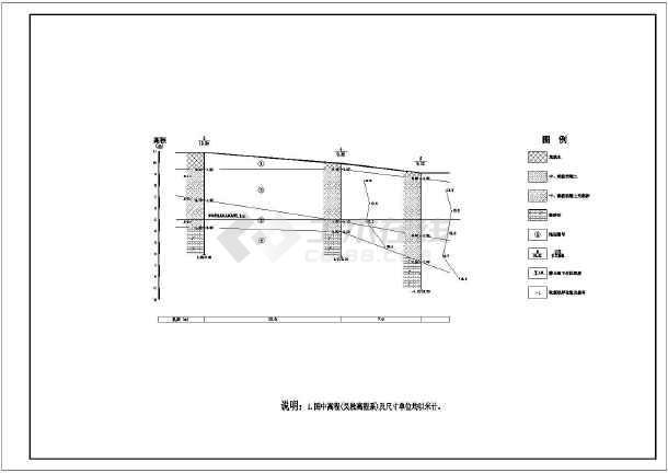 某涵闸及某排涝站结构布置及钢筋图-图2