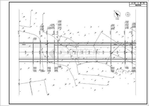 道路市政工程给排水及管综设计施工图-图一