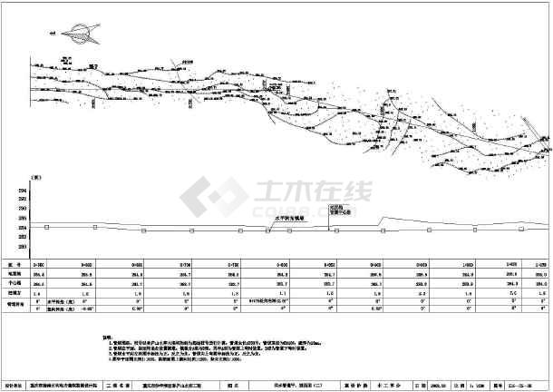 【重庆】某处水库大坝以及部分管道的剖面设计-图二