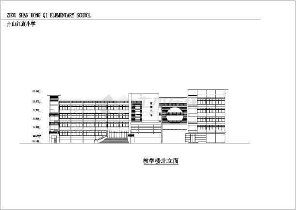 某小学四层综合教学楼建筑设计方案图纸图片