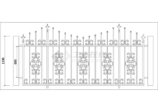 44种不同形式工程铁艺栏杆设计图纸-图二