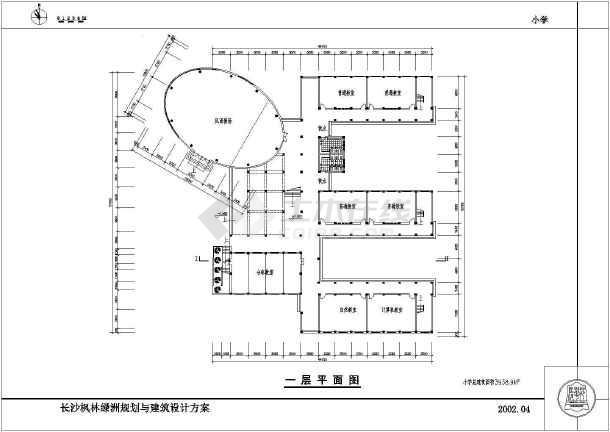 某地小学三层教学楼建筑施工图图片