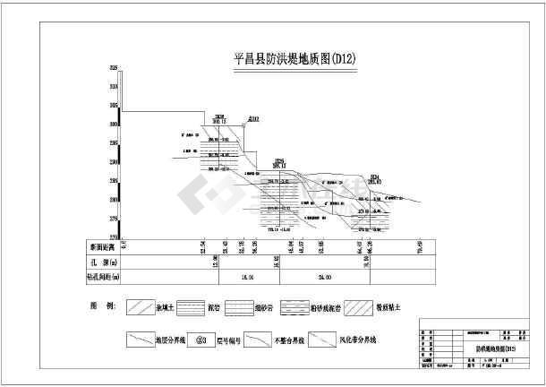 某地区防洪堤坝水利工程设计施工图纸-图一