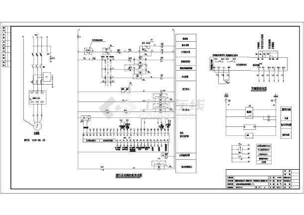 城市污水处理厂变频、软启动、液位电气控制原理图-图二