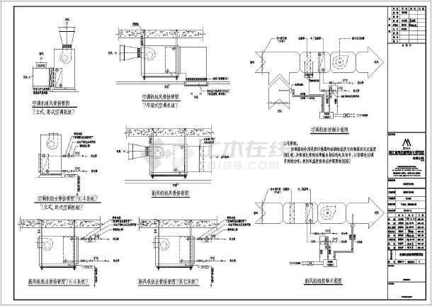 点击查看漳州市正兴医院门诊暖通空调设计图纸第1张大图