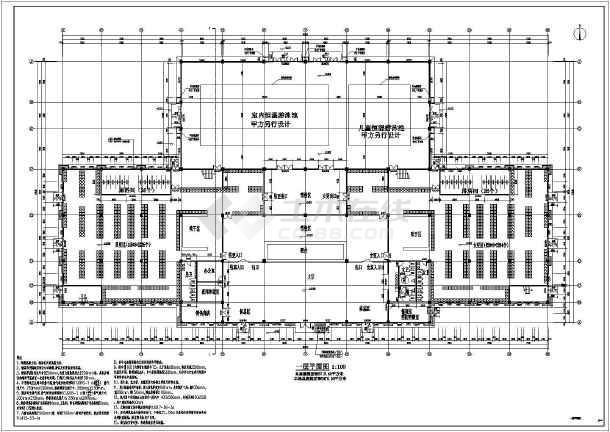 景区游客中心框架结构建筑结构全套施工图-图3