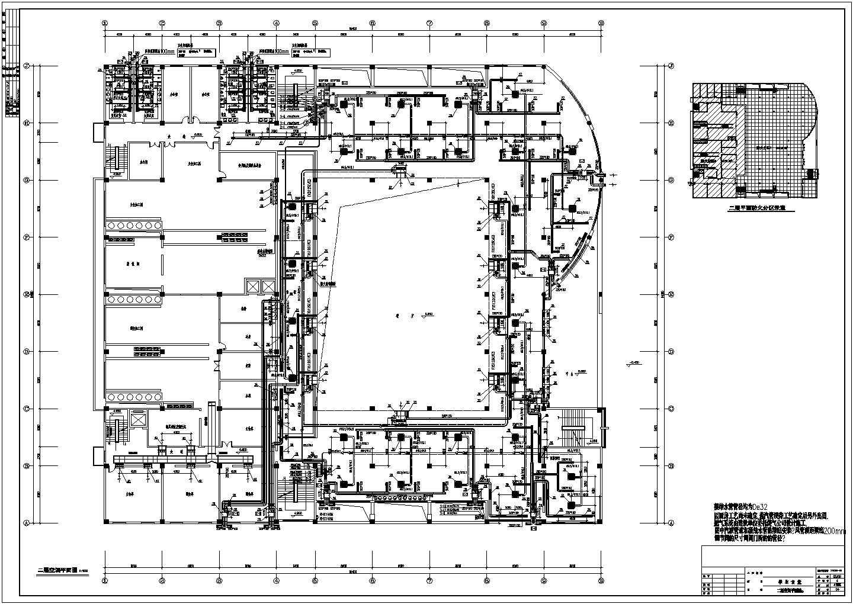某大学三层学生食堂VRV空调通风施工图图片2
