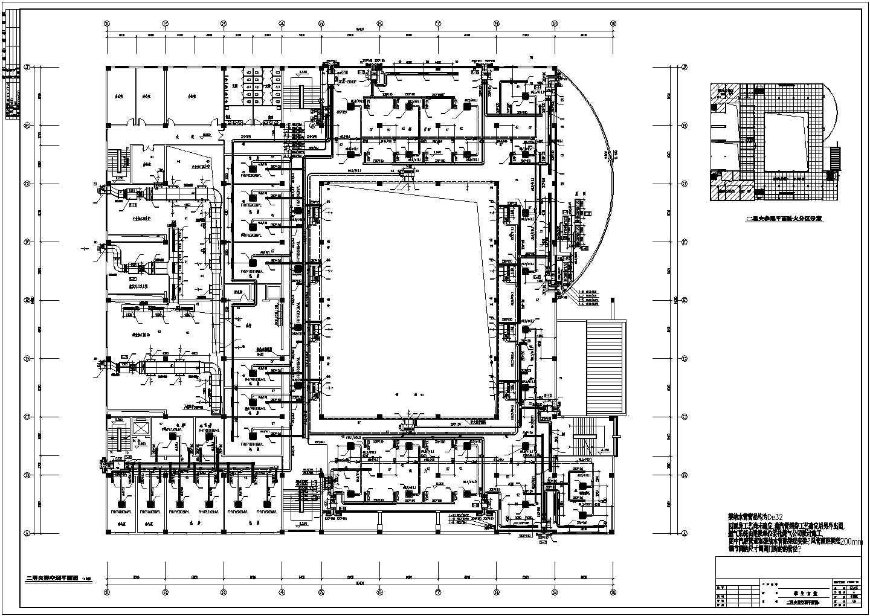 某大学三层学生食堂VRV空调通风施工图图片3