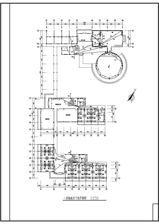 某地三层办公楼电气设计施工布置图图片3