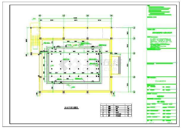 某泳池水处理系统设计施工图纸-图一