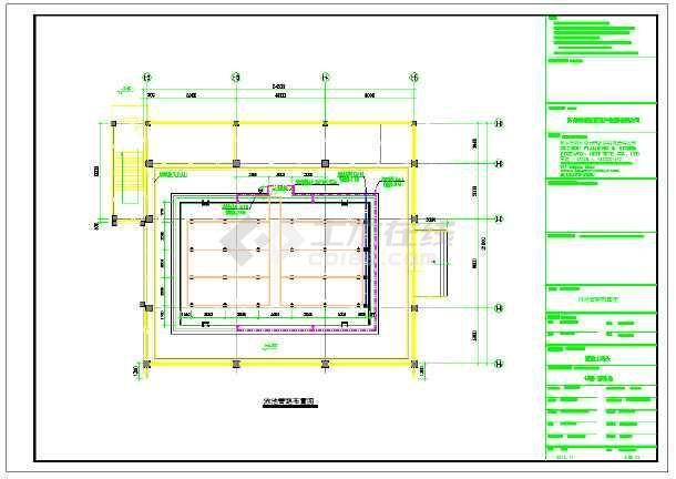某泳池水处理系统设计施工图纸-图1