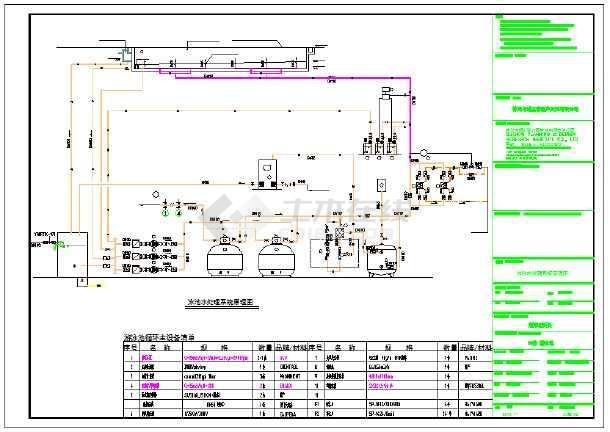 某泳池水处理系统设计施工图纸-图2