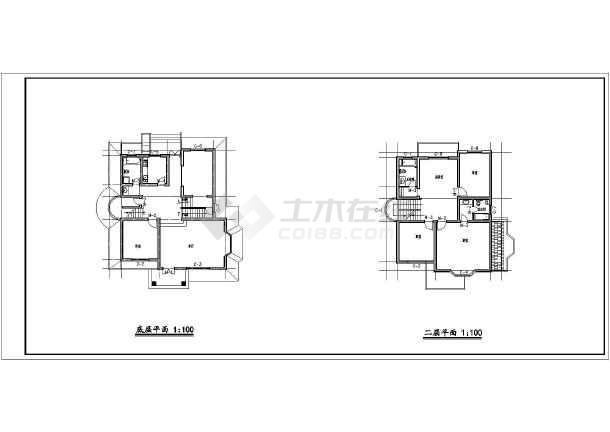 某别墅的方案建筑方案图(共6张)-图3