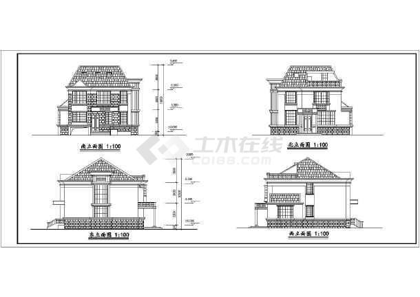 某别墅的方案建筑方案图(共6张)-图1