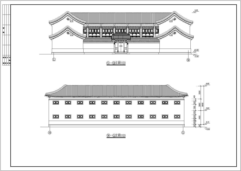 北方框架结构仿古建筑方案设计图节点图片1