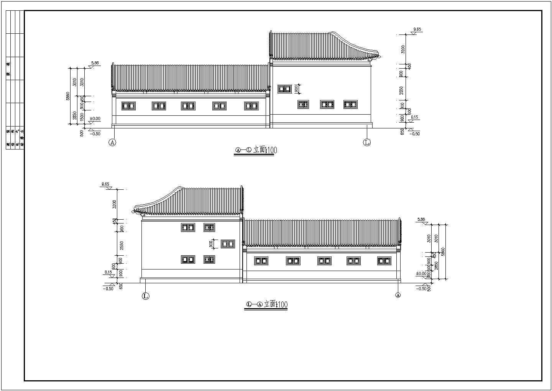 北方框架结构仿古建筑方案设计图节点图片2
