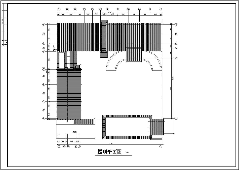 北方框架结构仿古建筑方案设计图节点图片3