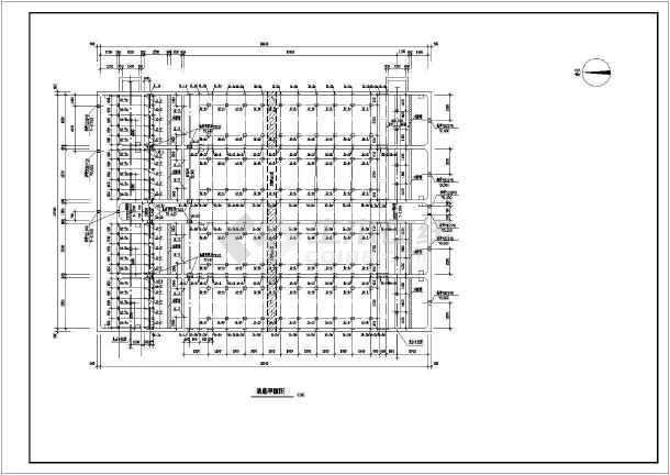 平流式沉淀池工业废水处理构筑物全图-图1