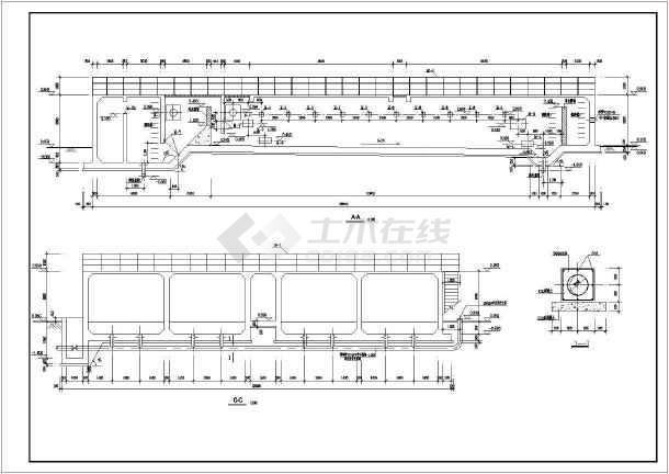 平流式沉淀池工业废水处理构筑物全图-图2
