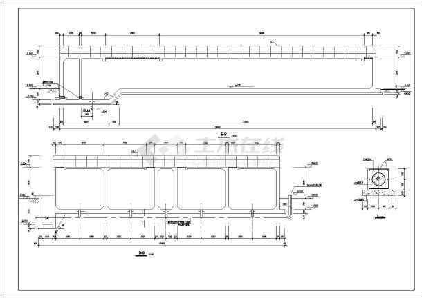 平流式沉淀池工业废水处理构筑物全图-图3
