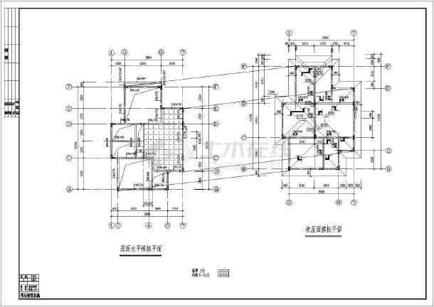 某欧式别墅建筑、结构设计施工图纸-图3