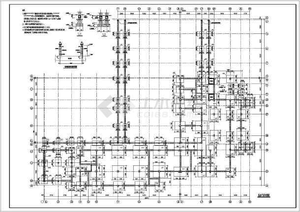 某蜂巢芯肋梁楼盖结构施工图(共15张)-图1