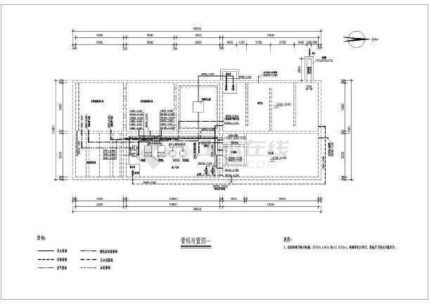 700方生活污水处理及中水回用工程工艺图纸-图1
