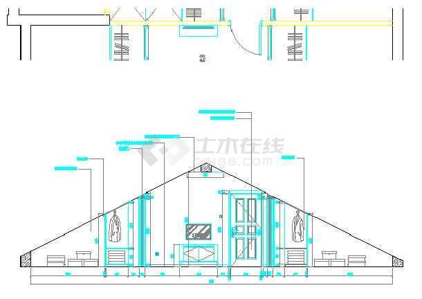 某别墅欧式风格装修设计图纸-图3