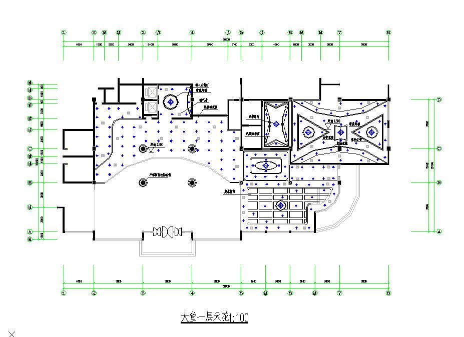 某地区小型西餐厅一层平面图(全套)图片2