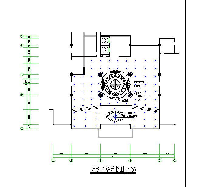 某地区小型西餐厅一层平面图(全套)图片3
