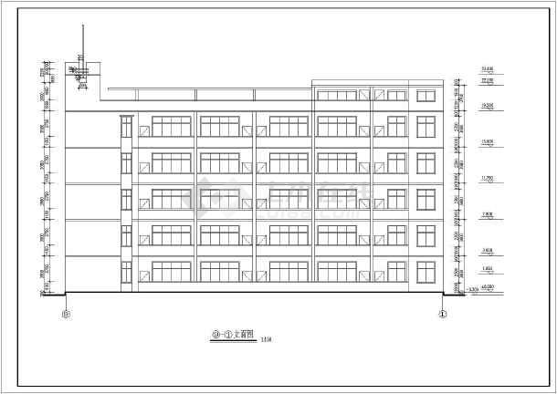 某中学教学楼建筑设计cad施工图图片