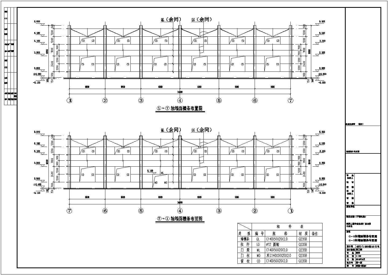 某地上1层医疗制药厂中药仓门式钢结构施工图(含总设计说明)图片1
