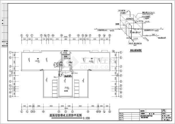某地劳动局十六层综合楼给排水设计施工图图片