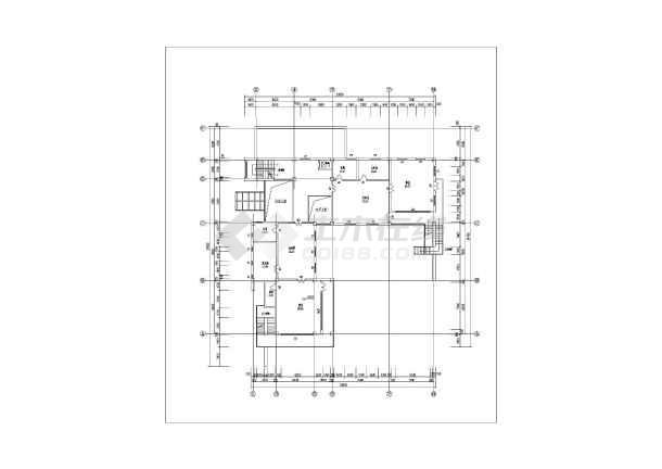 某地三层框架结构幼儿园3D模型图-图3