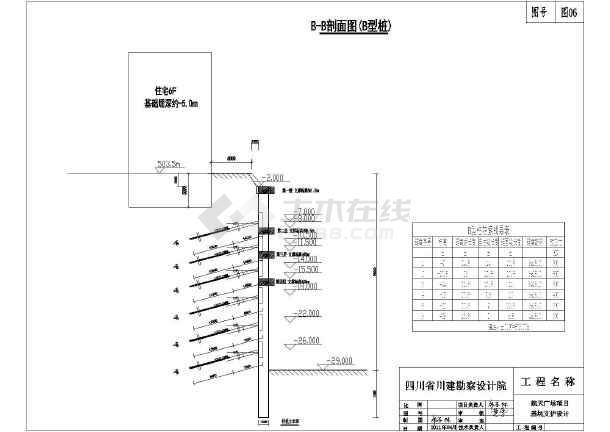 某航空广场项目基坑支护设计施工图-图3