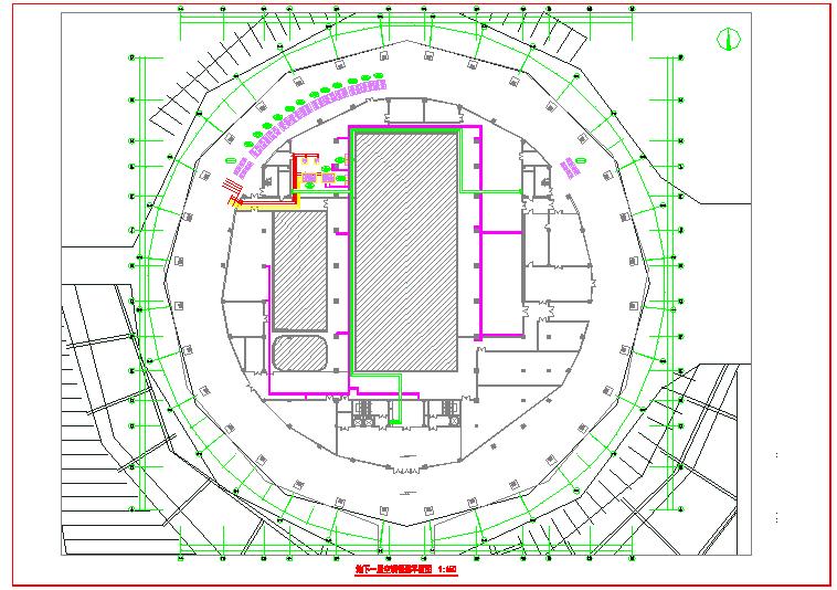 【山东】多层体育馆暖通空调及防排烟系统初设图图片1