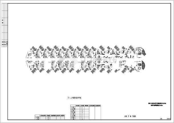 某地五星级海景酒店建筑平面图(天正版)-图1