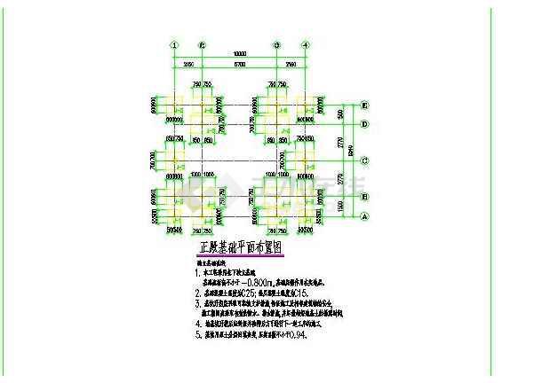 财神庙全套图纸(建筑加结构)-图2