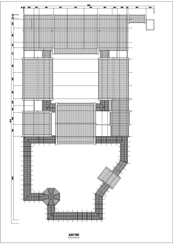 经典中国仿古建筑四合院住宅施工图(含鸟瞰图和透视图)图片3