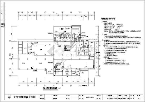 湖南省某医院住院大楼给排水全套施工图图片