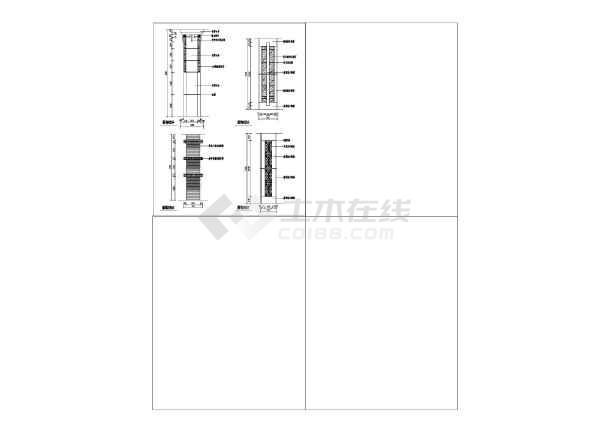各种类型不同风格的铁艺栏杆构造详图-图一